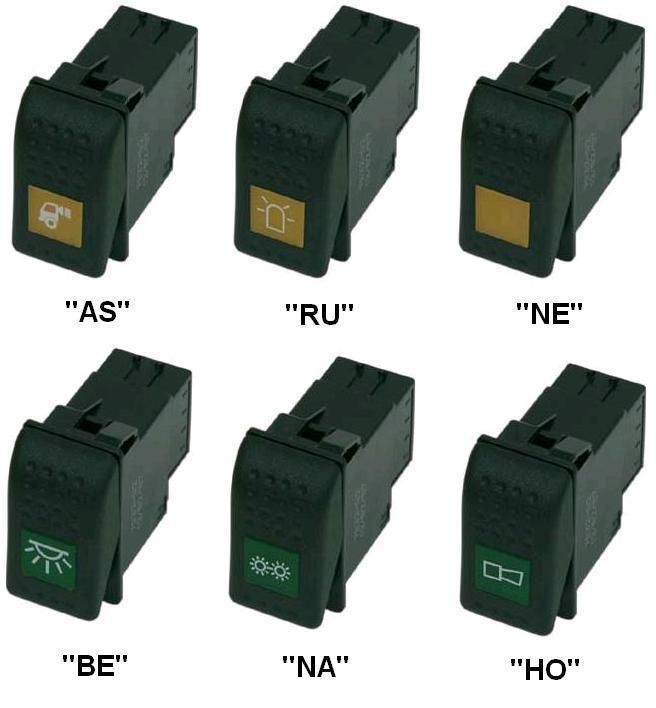 Elektro kippschalter mit symbolen kennleuchten for Kochmulden elektro