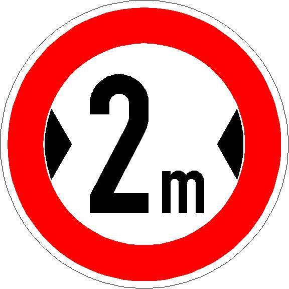 Verkehrszeichen Verbot für Fahrzeuge über angegebene tatsächliche Breite