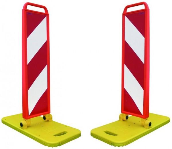 Klapp-Bake, BASt-geprüft, Leitbake / Warnbake inkl. Fußplatte RA2