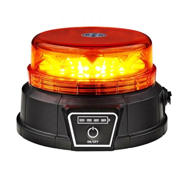 Akku Rundumleuchte mit Magnet orange, LED-Technik, ECE R65, ECE R10