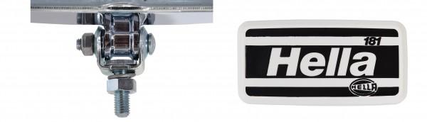 HELLA 1FD 003 590-411 Halogen-Fernscheinwerfer - Classic 181 - 12/24V - Referenzzahl: 17.5 - Anbau -