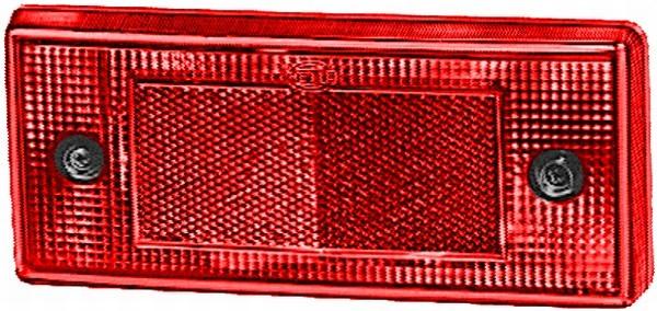 HELLA 8RA 003 734-101 Rückstrahler - Lichtscheibenfarbe: rot - Anbau/geschraubt