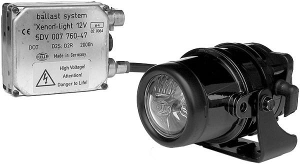 HELLA 1F0 008 390-001 DE/Xenon-Fernscheinwerfer - Micro DE - 12V - Referenzzahl: 17.5 - Einbau - lin