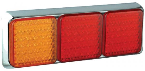 LED Kombinationsleuchte 100/3R chrom 12/24 V