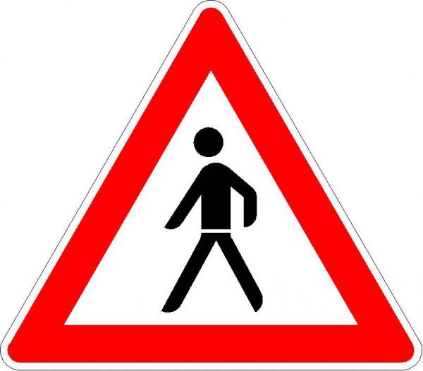 Fußgänger, Aufstellung rechts VZ 133-10