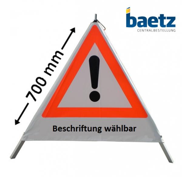 Faltsignal / Warnpyramide 70cm VZ101