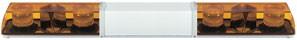 Xenon Doppelblitz Lichtwarnbalken, 12 / 24 Volt, 4 Blitzer, 1.500 mm