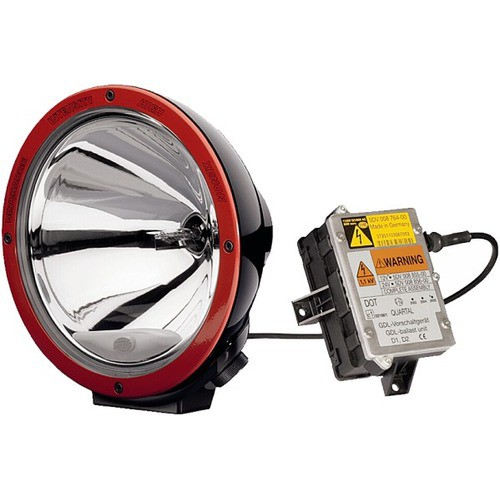 HELLA 1F8 007 560-621 Fernscheinwerfer Luminator Xenon, rund, Anbau links/rechts stehend, 12 V, rot