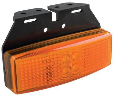 LED Markierungsleuchte mit Winkel orange 12/24V