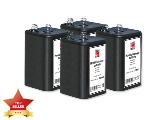 Hochleistungsblockbatterien IEC 4R25 6V/7Ah - 4 Stück