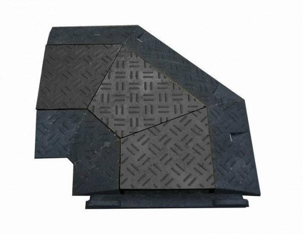 Kabelbrücke / Schlauchbrücke mit Deckel (schwarz) 90°