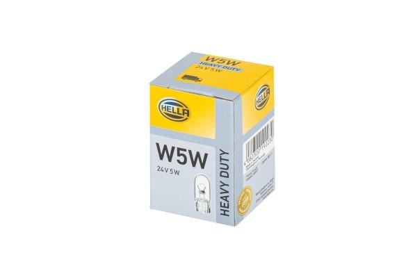 HELLA 8GP 003 594-251 Glühlampe - W5W - Heavy Duty - 24V - 5W - Sockelausführung: W2,1x9,5d - Schach
