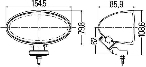 HELLA 1FA 007 891-811 FF/Halogen-Fernscheinwerfersatz - Comet FF 100 - 12V - oval - Referenzzahl: 17