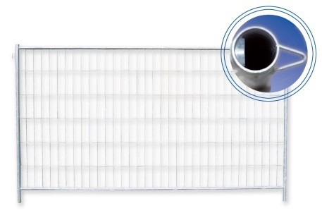 """Bauzaun """"Profi"""", Ausgleichselement, mit Haken und Ösen, 2,20 m x 2,00 m"""