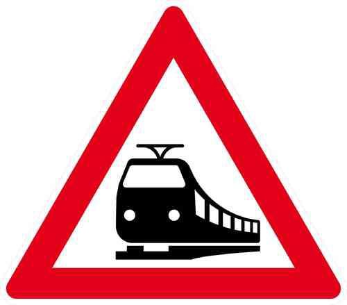 Verkehrszeichen Bahnübergang