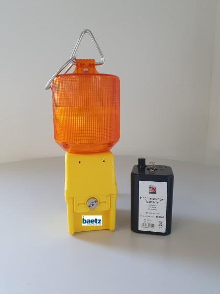 Baustellenleuchte UNO-Light LED 2, Rundumlicht 360°, gelb