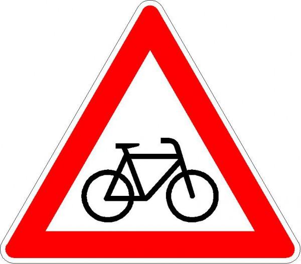 Verkehrszeichen Radverkehr, Aufstellung links