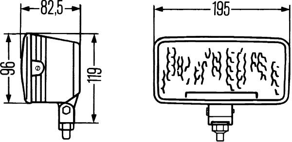 HELLA 1FA 996 197-181 LED-Fernscheinwerfer - RokLume 380 - 24V - Referenzzahl: 40 - Anbau/Bügelbefes