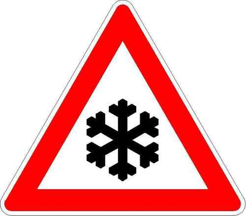 Verkehrszeichen Schnee- oder Eisglätte