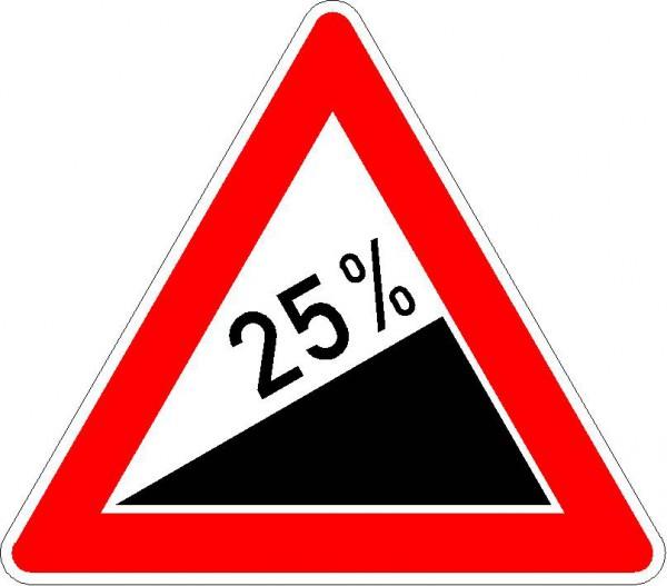 Steigung ... % VZ 110-XX