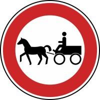 Verkehrszeichen Verbot für Gespannfuhrwerke