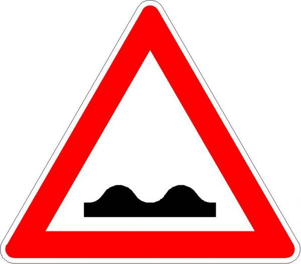Verkehrszeichen Unebene Fahrbahn