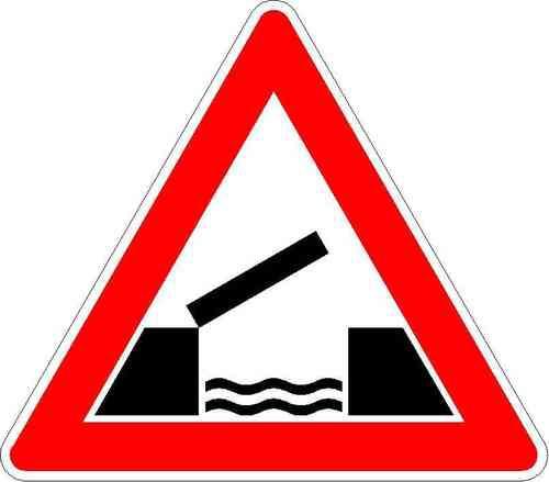 Verkehrszeichen Bewegliche Brücke