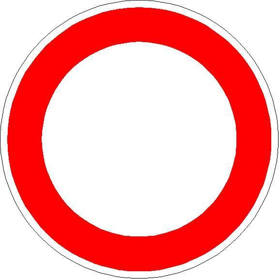 Verkehrszeichen Verbot für Fahrzeuge aller Art