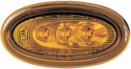 Hella Seitenmarkierungsleuchte Breite 60mm, 1 Stück, gelb, 2PS008138-001, Restbestand
