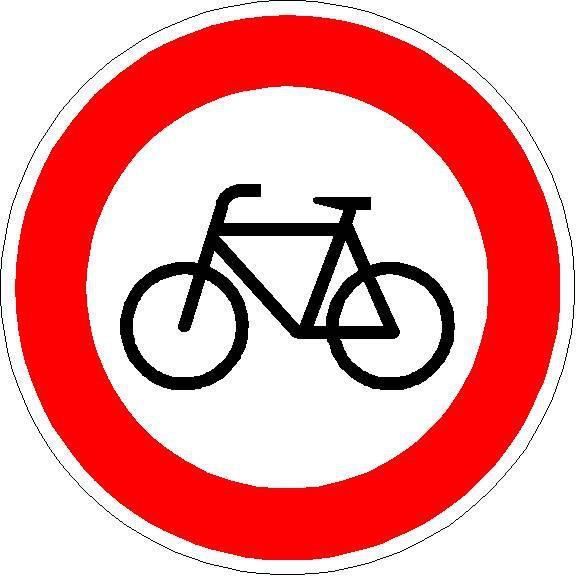Verkehrszeichen Verbot für Radverkehr