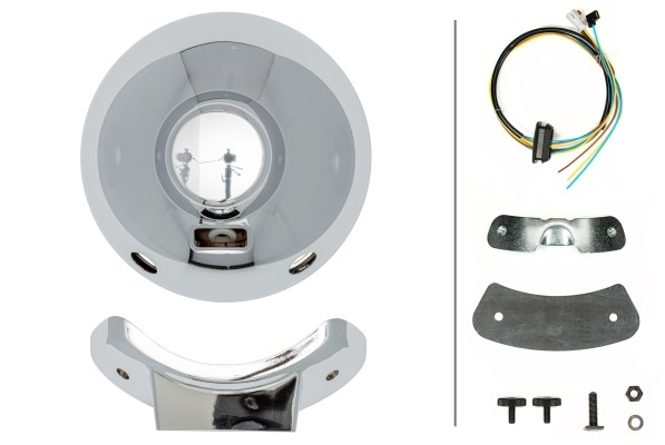 HELLA 1F8 007 560-421 FF/Halogen-Fernscheinwerfer - Luminator Chromium - 12/24V - rund - Referenzzah