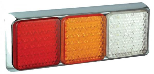 LED Kombinationsleuchte 100/3W chrom 12/24 V