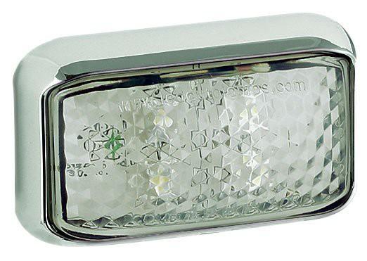 LED Markierungsleuchte, vorne, weiß/chrom 12 - 24V