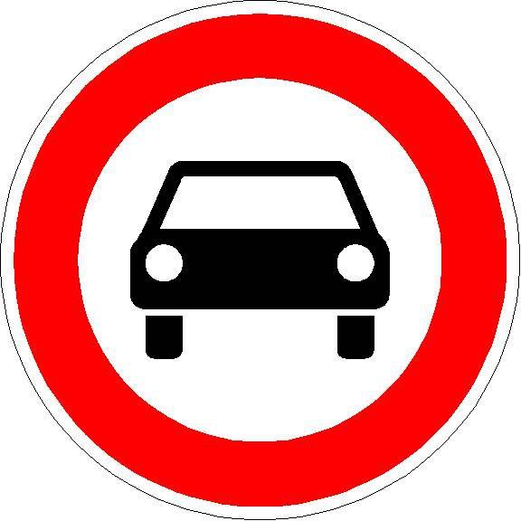 Verkehrszeichen Verbot für Kraftwagen und sonstige mehrspurige Kraftfahrzeuge