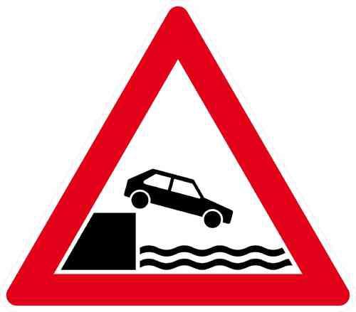 Verkehrszeichen Ufer