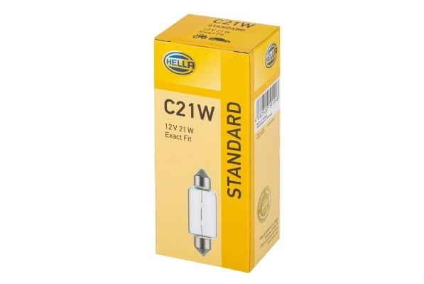 HELLA 8GM 002 091-181 Glühlampe - C21W - Standard - 12V - 21W - Sockelausführung: SV8,5-8 - Schachte