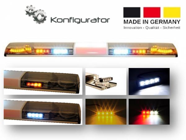 LED Lichtwarnbalken, Serie Germany, mit Zusatzausrüstung