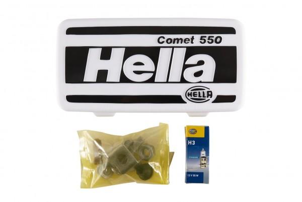 HELLA 1FB 005 860-261 Halogen-Fernscheinwerfer - Comet 450 - 12V - Anbau - Lichtscheibenfarbe: gelb