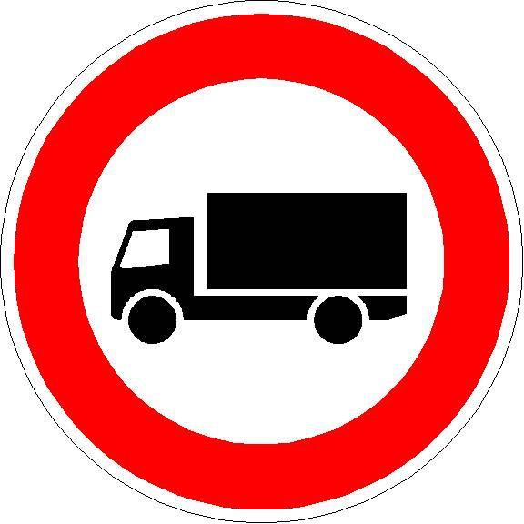 Verkehrszeichen Verbot für Kraftfahrzeuge mit einem Zulässigen Gesamtgewicht über 3,5t, einschließlich ihrer Anhänger, und Zugmaschinen, ausgenommen Personenkraftwagen und Kraftomnibusse