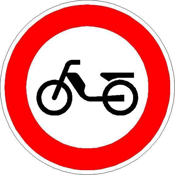 Verkehrszeichen Verbot für Mofas
