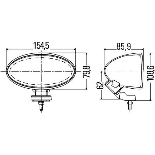 HELLA 1FA 007 891-061 Fernscheinwerfer Comet FF 100, Anbau links/rechts stehend, Halogen, 12 V