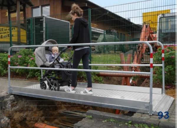 Grabenbrücke Aluminium
