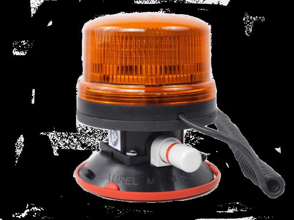 LED Rundumleuchte - Vakuum Sockel - Gelb