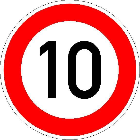 Verkehrszeichen Zulässige Höchstgeschwindigkeit