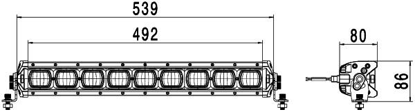 HELLA 1FE 006 300-041 Halogen-Fernscheinwerfer - Jumbo 220 - 12/24V - Referenzzahl: 37.5 - Anbau - l