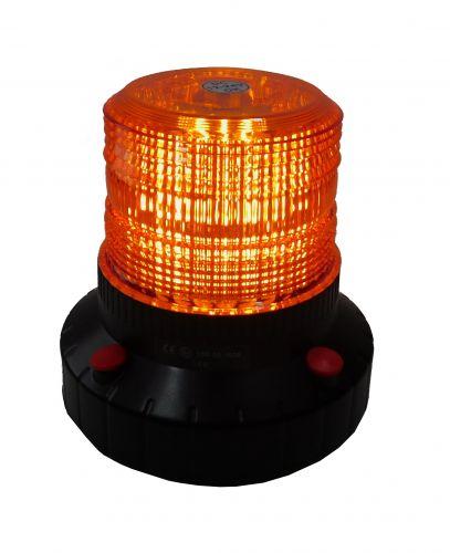 Akku Rundumleuchte mit Magnet orange